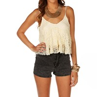 Sale-lace Sleeveless Top