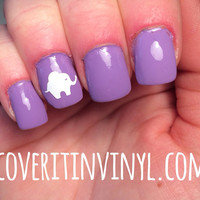 Elephant Nail Decals - Set of 50