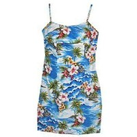 lagoon hawaiian spaghetti dress