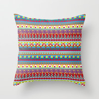 NATIVE MIND DREAM Throw Pillow by Nika