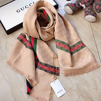 GUCCI Fashion Men Women Letter Print Cashmere Scarf Scarves
