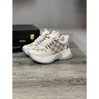 LV Louis Vuitton Men's And Women's Leather BEVERLY HILLS Run Away Pulse Sneakers Shoes