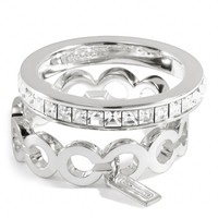 Coach :: New Sterling Op Art Baguette Stacking Ring
