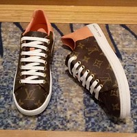 Louis Vuitton LV Women Fashion Leather Old Skool Flats Shoes