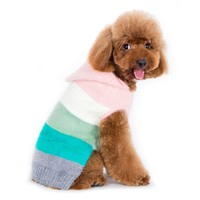 PuppyPAWer Color Stripes Dog Hoodie Sweater by Dogo - Multi