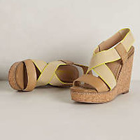 Neon Cork Wedges by Splendid Brown 9.5 Wedges