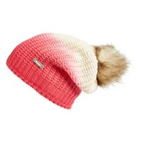 Women's Bench 'Corked' Faux Fur Pom Ombre Beanie - Pink