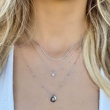 Northern Star Silver Layered Necklace