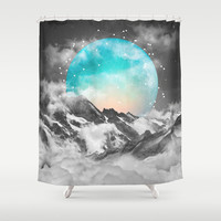 It Seemed To Chase the Darkness Away (Guardian Moon) Shower Curtain by Soaring Anchor Designs