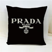 Prada Logo Throw Pillow Cover