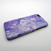 Newest Purple Crystal Marble Case for iPhone 6s 6 Plus & iPhone 7 7 Plus + Gift Box