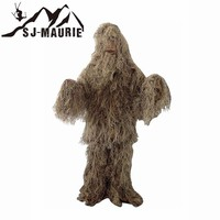 5 Pcs Winter Ghillie Camuflaje Gorra Hunting Ghillie Suit Green Grey Hunting Clothes Sniper Suit Army Camo Jungle Tactical Suit