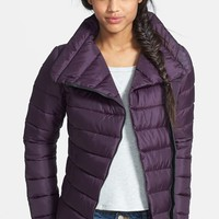 Junior Women's Krush Faux Leather Trim Puffer Coat (Online Only)