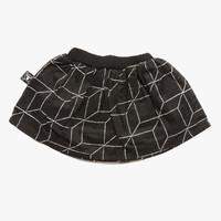 Nununu Grid Skirt in Black - NU0635