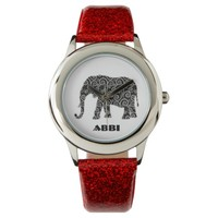 Personalized Black and White Elephant Wrist Watches