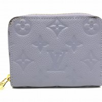 Louis Vuitton Monogram Empreinte Coin Case Purse Light Blue M60574