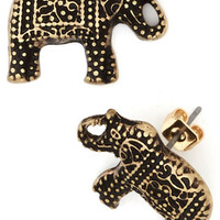 Patterned Pachyderms Earrings | Mod Retro Vintage Earrings | ModCloth.com