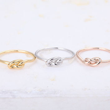 30PCS- Silver Heart Infinity Knot Ring Midi Ring Jewelry Rings Party
