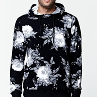 On The Byas Duke Floral Hoodie - Mens Hoodies - Black