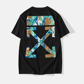 Camouflage Short Sleeve Couple Shirt [1276625748004]