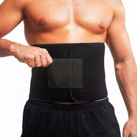 2017 New Waist Trimmer Professional Sports Sweet Sweat Premium Waist Trimmer For Men And Women Black Promotion
