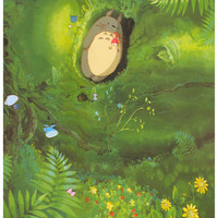 My Neighbor Totoro Lazy Day Poster 11x17