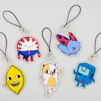 Adventure Time (and catbug!) Keychain/Charms