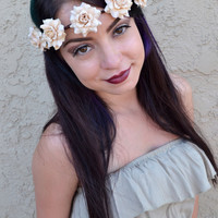Cream Rose Crown #D1004