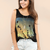 Palmtree Graphic Top