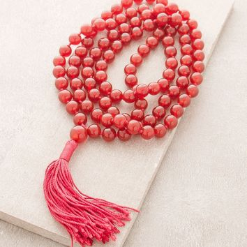 High-Energy Red Carnelian Mala