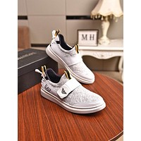 HOT33  Men Fashion Boots fashionable Casual leather Breathable Sneakers Running Shoes