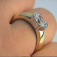 Oval Diamond Engagement Ring 1.70ct 14kt Yellow Gold Blueriver47 Etsy Fine Jewelry Anniversary Rings Bridal Jewelry Gift