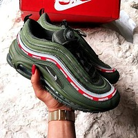 NIKE AIR MAX 97 Fashion Women Men Personality Running Sport Shoe Sneakers Army Green I