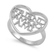 Unconditional Friendship Ring Sterling Silver 925 Size 8