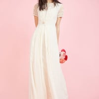 Intricate Observance Maxi Dress in Ivory
