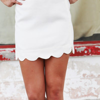 Breaking Petals Skirt {Ivory}