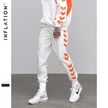 INFLATION A/W Sweatpants Side Traffic Lane Line Printed Male Streetwear Track Pants Trousers Casual Jogger Pants 8829W