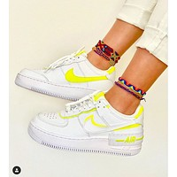 Nike Air Force 1 Shadow Jelly Deconstruction Women's Sneakers White+Yellow