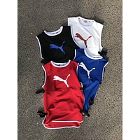 PUMA Trending Men Women Stylish Can Adjust Sleeveless Vest Sports Fitness Basketball Top I-YF-MLBKS