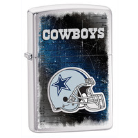 NFL Brushed Chrome Zippo Lighter - Dallas Cowboys