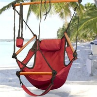 SheilaShrubs.com: Sunnydaze Hanging Hammock Chair With Pillow & Drink Holder HHC by Sunnydaze Decor: Hammocks