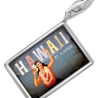 """FotoCharms """"Hawaii vacation,Vintage"""" - Charm with Lobster Clasp For Charms Bracelet. Handmade in Germany: Jewelry: Amazon.com"""