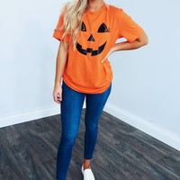 Ms. Pumpkin Tee: Orange/Black