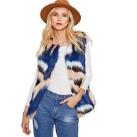 Faux Fur Multicolor Vest