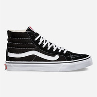 Vans Sk8 Hi Slim Womens Shoes Black  In Sizes