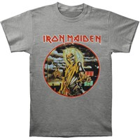 Iron Maiden Men's  Killers Vintage T-shirt Heather