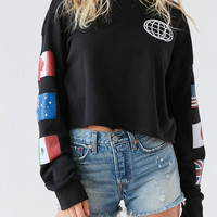Truly Madly Deeply Around The World Crew-Neck Sweatshirt | Urban Outfitters
