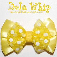 Dole Whip Hair Bow by MickeyWaffles on Etsy