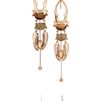Daniela Villegas - Polka 18-karat rose gold multi-stone earrings