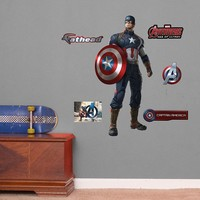 Avengers: Age of Ultron Captain America Wall Decals by Fathead Jr.